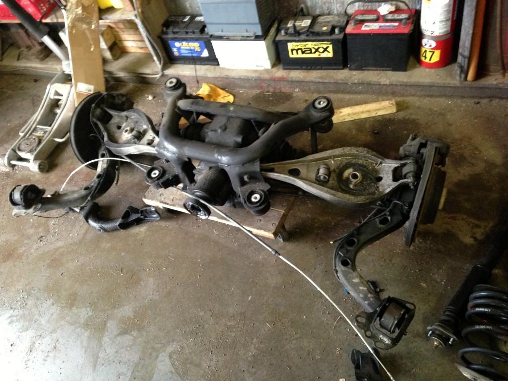 Bmw e36 rear suspension diagram
